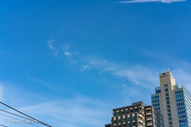 センサー清掃後、F22で空を撮ってみた