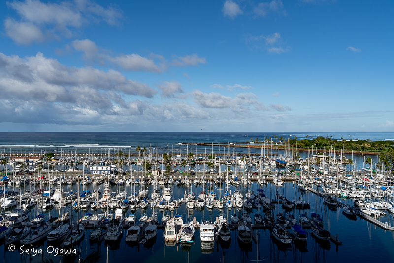 プリンスワイキキオーシャンフロントハーバーから見えるハワイの海